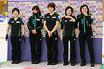 (L to R) Michiko Shibechi, Chinami Yoshida, Kaho Onodera, Yumie Funayama Ayumi Ogasawara (Fortius), SEPTEMBER 17, 2013 - Curling : Olympic qualifying Japan Curling Championships Women's Final forth Mach between Fortius 8-5 Chuden at Dogin Curling Studium, Sapporo, Hokkaido, Japan. (Photo by Yusuke Nakanishi/AFLO SPORT)