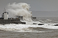 2020 02 15 Storm Dennis Porthcawl, south Wales, UK