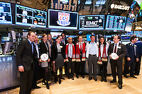 during the centennial celebration of U. S. Soccer at the New York Stock Exchange in New York, NY, on April 02, 2013.
