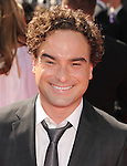 LOS ANGELES, CA - SEPTEMBER 15: Johnny Galecki arrives at the 2012 Primetime Creative Arts Emmy Awards at Nokia Theatre L.A. Live on September 15, 2012 in Los Angeles, California.