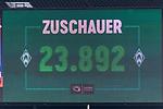 05.08.2017, Weserstadion, Bremen, GER, FSP, SV Werder Bremen (GER) vs FC Valencia (ESP)<br /> <br /> im Bild<br /> Anzeigetafel / Zuschauerzahl, Feature, <br /> <br /> Foto &copy; nordphoto / Ewert