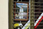 Wadowice 02.05.2011 Poland. To honor the ceremony of beatification of John Paul II citizens of Wadowice, the hometown of the late Pope placed his portraits in the windows of their homes, offices and stores.Photo Maciej Jeziorek/Napo Images.Wadowice 02.05.2011 Polska .Dzien po betyfikacji Jana Pawla II w jego rodzinnym miescie. Na uroczystosc odbywajaca sie dzien wczesniej w Rzymie mieszkancy Wadowic wywiesili portrety papieza w oknach swoich domow i miejsc pracy.fot. Maciej Jeziorek/Napo Images