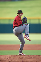 AZL D-backs starting pitcher Argenis Bravo (13) during an Arizona League game against the AZL Cubs 1 on July 25, 2019 at Sloan Park in Mesa, Arizona. The AZL D-backs defeated the AZL Cubs 1 3-2. (Zachary Lucy/Four Seam Images)