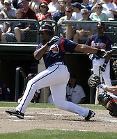 March 27, 2004:  Andruw Jones of the Atlanta Braves organization during Spring Training at Wide World of Sports in Orlando, FL.  Photo copyright Mike Janes/Four Seam Images