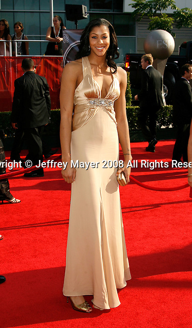 WNBA player Candace Parker arrives at the 2008 ESPY Awards held at NOKIA Theatre L.A. LIVE on July 16, 2008 in Los Angeles, California.