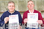Chairman of Cromane GAA Club, Pat Casey and Bord Na No?g secretary, Robert O'Neill, are delighted with the success of the new weekly Cromane GAA newsletter for both club and local news