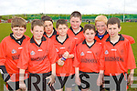 Bouleenshere NS Team from Left: Owen Lucid, Jack Healy, Jerry O'Halloran, Michael Leane, Kieran O'Halloran Shane Nolan Brian O'Riordan and Ryan Regan. pictured at the Kerry national schools 5 a side soccer Blitz at Christy Leahy Park, CAhermoneen, Tralee on Tuesday.