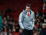 Unai Emery manager of Arsenal during the UEFA Europa League match at the Emirates Stadium, London. Picture date: 28th November 2019. Picture credit should read: David Klein/Sportimage