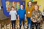 Harry Rusk, Tim Yeomens, Ben Slim and Brid McElligott (I T Tralee) at the Kerry Science Festival in the IT Tralee on Saturday.