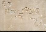 North Wall Anthropomorphic Petroglyphs etc., Petroglyph Trail Chetro Ketl to Pueblo Bonito, Chaco Culture National Historical Park, Chaco Canyon, Nageezi, New Mexico