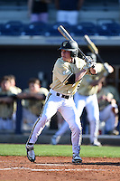 Vanderbilt Commodores outfielder Drake Parker (6) at bat during a game against the Indiana State Sycamores on February 21, 2015 at Charlotte Sports Park in Port Charlotte, Florida.  Indiana State defeated Vanderbilt 8-1.  (Mike Janes/Four Seam Images)