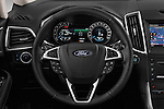 Car pictures of steering wheel view of a 2016 Ford S-Max Titanium 5 Door Minivan Steering Wheel
