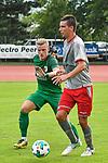 12.07.2017, Sportplatz, Mals, ITA, FSP, FC Augsburg vs 1. FC Kaiserslautern, im Bild Philipp Max (Augsburg #31), Christoph Moritz (Kaiserslautern #18)<br /> <br /> Foto &copy; nordphoto / Hafner