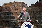 LEAD, SD - JUNE 30: South Dakota Governor Dennis Daugaard speaks during the Sanford Lab Homestake Visitor Center Grand Opening Tuesday in Lead, S.D. (Photo by Richard Carlson/dakotapress.org)