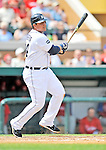 9 March 2011: Detroit Tigers' first baseman Miguel Cabrera in Spring Training action against the Philadelphia Phillies at Joker Marchant Stadium in Lakeland, Florida. The Phillies defeated the Tigers 5-3 in Grapefruit League play. Mandatory Credit: Ed Wolfstein Photo