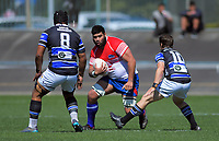 Action from the 2019 Heartland Championship  rugby match between Horowhenua Kapiti and Wanganui Steelers at Levin Domain in Levin, New Zealand on Saturday, 28 September 2019. Photo: Dave Lintott / lintottphoto.co.nz