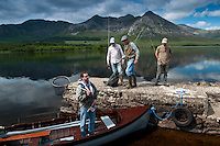 Lough Inagh, Connemara, County Galway, Ireland, June 2010. The stunning scenery surrounding Lough Inagh is the setting for some great fly fishing for brown trout and salmon.  For centuries, Ireland has offered the greatest sport fishing to anglers. Several traditional houses offer accomodation and fishing in style, under the name 'The Great Fishing Houses of Ireland'.  Each of the houses has access to superb fishing. Some offer private, exclusive waters, while others are located on the great free lakes of Ireland. Photo by Frits Meyst/Adventure4ever.com