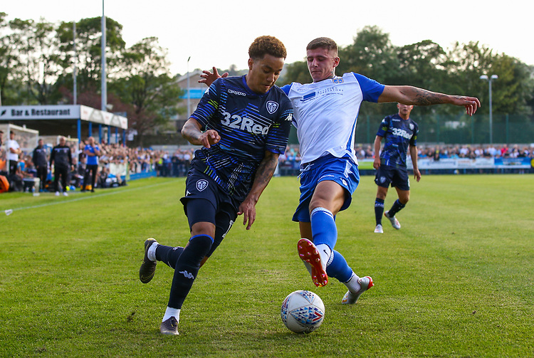 Leeds United's Helder Costa in action <br /> <br /> Photographer Alex Dodd/CameraSport<br /> <br /> Football Pre-Season Friendly - Guiseley v Leeds United - Thursday July 11th 2019 - Nethermoor Park - Guiseley<br /> <br /> World Copyright © 2019 CameraSport. All rights reserved. 43 Linden Ave. Countesthorpe. Leicester. England. LE8 5PG - Tel: +44 (0) 116 277 4147 - admin@camerasport.com - www.camerasport.com