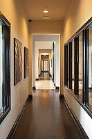 A hallway in the clubhouse of a luxurious appartment building in Oakbrook Terrace, IL.