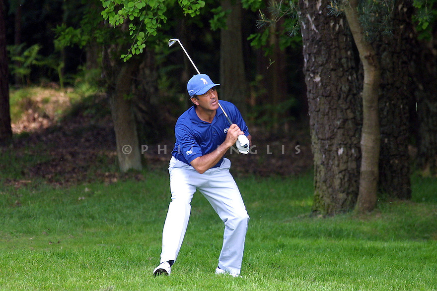 Seve Ballesteros in action at 2001 PGA Championship, Wentworth