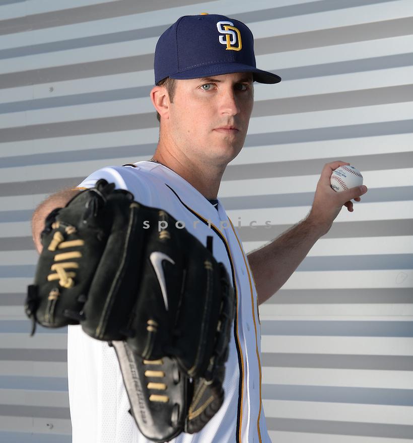 San Diego Padres Drew Pomeranz (13) during photo day on February 26, 2016 in Peoria, AZ.