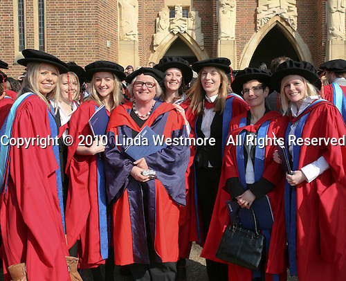 Happy post-graduates, University of Surrey.