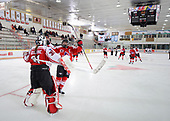 WINKLER, MB - Nov 5 2019: Ontario Red vs. Atlantic during the 2019 National Women's Under 18 Championship at the Centennial Arena in Winkler, Manitoba, Canada. (Photo by Matthew Murnaghan/Hockey Canada Images)