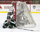 Corey Kalk (Dartmouth - 18), Merrick Madsen (Harvard -  31) - The Harvard University Crimson defeated the Dartmouth College Big Green 5-2 to sweep their weekend series on Sunday, November 1, 2015, at Bright-Landry Hockey Center in Boston, Massachusetts. -