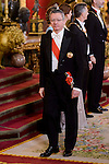 Alberto Ruiz Gallardon during the gala dinner given to the President of the Argentine Republic, Sr. Mauricio Macri and Sra Juliana Awada at Real Palace in Madrid, Spain. February 19, 2017. (ALTERPHOTOS/BorjaB.Hojas)