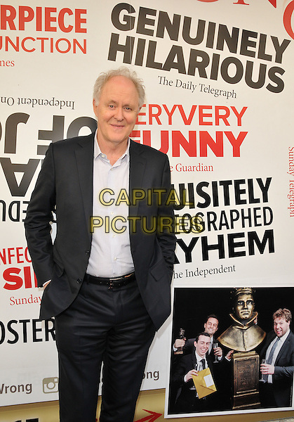 LONDON, ENGLAND - JULY 07: John Lithgow attends the &quot;The Play That Goes Wrong&quot; LAMDA gala performance, Duchess Theatre, Catherine St., on Tuesday July 07, 2015 in London, England, UK. <br /> CAP/CAN<br /> &copy;CAN/Capital Pictures