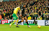 31st October 2017, Carrow Road, Norwich, England; EFL Championship football, Norwich City versus Wolverhampton Wanderers; Wolverhampton Wanderers midfielder Ivan Cavaleiro battles with Norwich Citys James Husband