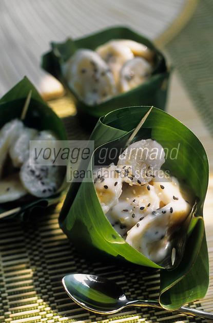 """Asie/Thaïlande/Petchabun : Banane au lait de coco - Recette du restaurant de """"l'Imperial Phu Kaew Resort"""""""