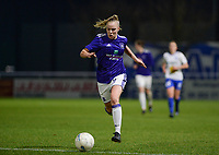 20180126 - OOSTAKKER , BELGIUM : Anderlecht's Sarah Wijnants pictured during the quarter final of Belgian cup 2018 , a womensoccer game between KAA Gent Ladies and RSC Anderlecht , at the PGB stadion in Oostakker , friday 27 th January 2018 . PHOTO SPORTPIX.BE | DAVID CATRY