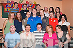 KEY OF THE DOOR: Tom Moriarty from Rahoonane, Tralee (seated centre) celebrated his 21st birthday in Na Gaeil GAA Clubhouse last Saturday night with family and many friends..