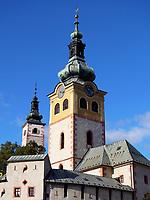 Stadtburg, Stadturm und Marienkirche in Banska Bystrica, Banskobystricky kraj, Slowakei, Europa<br /> town castle, tower and St. Mary in Banska Bystrica, Banskobystricky kraj, Slovakia, Europe