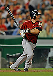 11 July 2008: Houston Astros' left fielder David Newhan in action against the Washington Nationals at Nationals Park in Washington, DC. The Nationals shut out the Astros 10-0 in the first game of their 3-game series...Mandatory Photo Credit: Ed Wolfstein Photo
