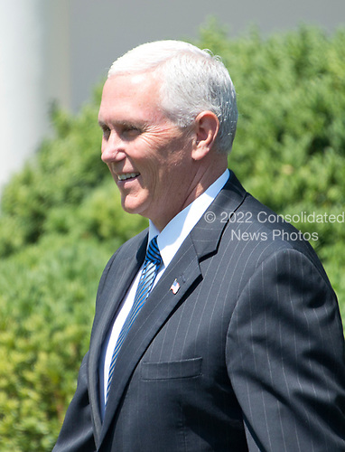 United States Vice President Mike Pence arrives prior to US President Donald J. Trump and President Moon Jae-in of the Republic of Korea make joint statements in the Rose Garden of the White House in Washington, DC on Friday, June 30, 2017.  <br /> Credit: Ron Sachs / CNP