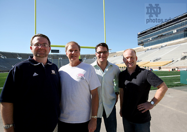 ND Nation Founders (from left) Michael Coffey, John Vannie, Scott Engler, Michael Cash.  For ND Magazine