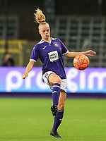 20190912 - Anderlecht , BELGIUM : Anderlecht's Sarah Wijnants pictured during the female soccer game between the Belgian Royal Sporting Club Anderlecht Dames  and BIIK Kazygurt from Shymkent in Kazachstan, this is the first leg in the round of 32 of the UEFA Women's Champions League season 2019-20120, Thursday 12 th September 2019 at the Lotto Park in Anderlecht , Belgium. PHOTO SPORTPIX.BE | SEVIL OKTEM