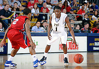 Florida International University guard Deric Hill (1) plays against Florida Atlantic University, which won the game 66-64 on January 21, 2012 at Miami, Florida. .