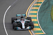 24th March 2018, Melbourne Grand Prix Circuit, Melbourne, Australia; Melbourne Formula One Grand Prix, qualifying; Mercedes AMG Petronas Motorsport AMG F1 Team; Lewis Hamilton on his way to pole position