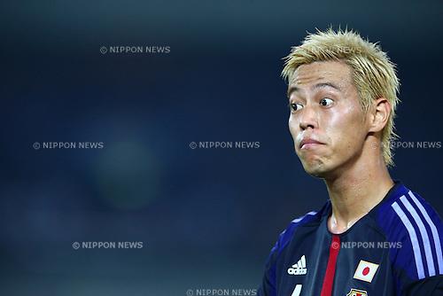 Keisuke Honda (JPN),<br /> SEPTEMBER 10, 2013 - Football / Soccer :<br /> Kirin Challenge Cup 2013 match between Japan 3-1 Ghana at Nissan Stadium in Kanagawa, Japan. (Photo by Kenzaburo Matsuoka/AFLO)