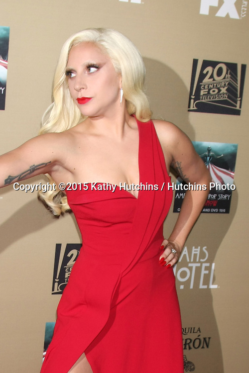 "LOS ANGELES - OCT 3:  Lady Gaga at the ""American Horror Story: Hotel"" Premiere Screening at the Regal 14 Theaters on October 3, 2015 in Los Angeles, CA"