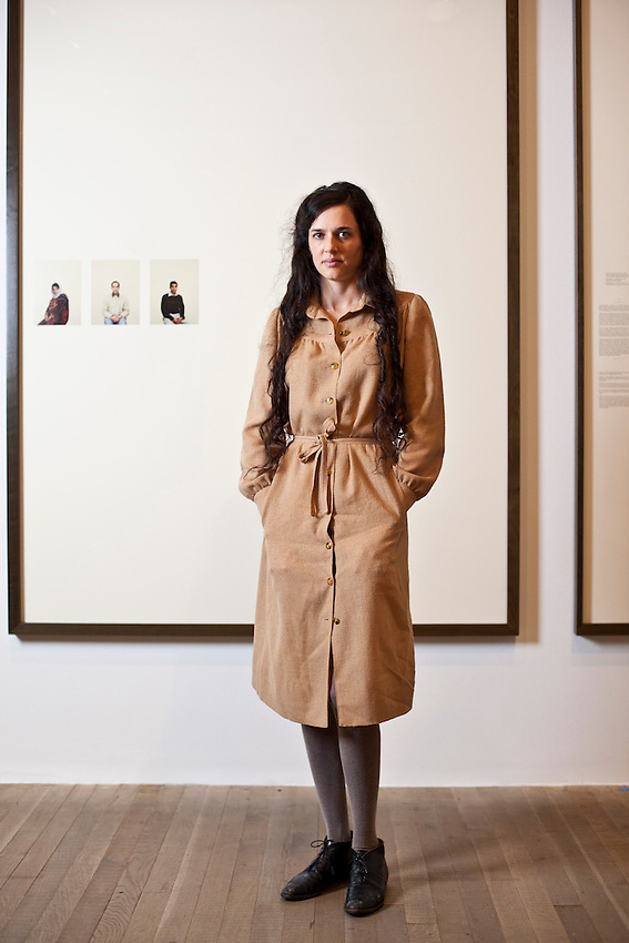"""Taryn Simon, photographed at the Tate Modern at her exhibition of her new body of work """"Blood Lines"""""""
