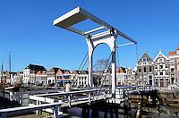 Zwolle. De Thorbeckegracht. Het Pelserbrugje