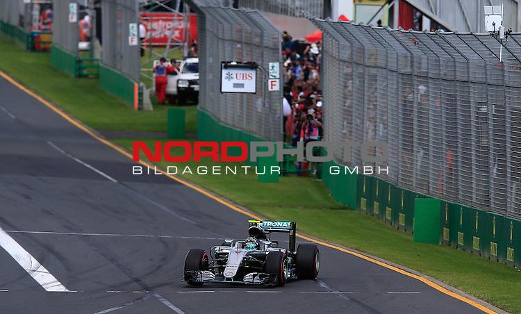 20.03.2016. Albert-Park-Circuit, Melbourne,  AUS, F1, Formula 1 Rolex Australien Grand Prix,  Race01 im Bild   <br /> <br /> Nico Rosberg (GER#6), Mercedes AMG Petronas Formula One Team<br /> <br /> Foto &copy; nordphoto /  Bratic