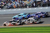Kurt Busch (#1), Tony Stewart (#33), Kasey Kahne (#38) and Joey Logano (#20).