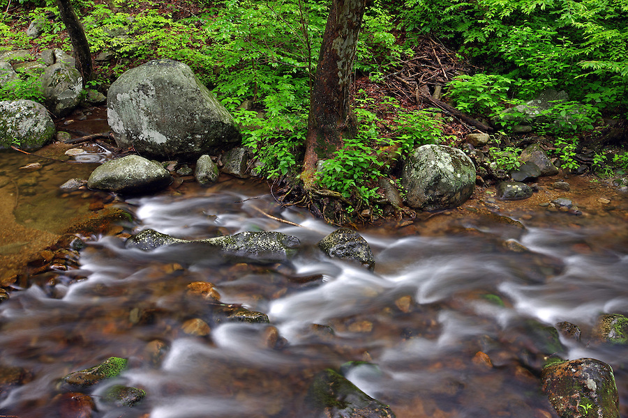 Hughes river next to Old Rag mountain in May 26, 2009 in Madison County, VA. .