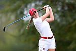 CHAPEL HILL, NC - OCTOBER 15: NC State's Cecily Overbey on the 9th tee. The third and final round of the Ruth's Chris Tar Heel Invitational Women's Golf Tournament was held on October 15, 2017, at the UNC Finley Golf Course in Chapel Hill, NC.