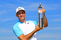 Dylan Frittelli (RSA) poses with the trophy after the final round of the Lyoness Open powered by Organic+ played at Diamond Country Club, Atzenbrugg, Austria. 8-11 June 2017.<br /> 11/06/2017.<br /> Picture: Golffile | Phil Inglis<br /> <br /> <br /> All photo usage must carry mandatory copyright credit (&copy; Golffile | Phil Inglis)